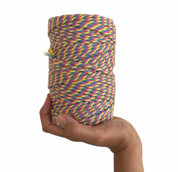 Coloured Macrame Cord CANDY POP 4mm 100m