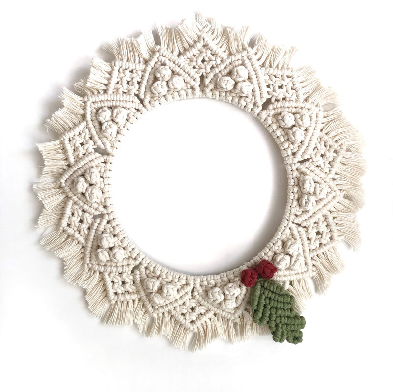 Christmas Wreath Macrame Pattern