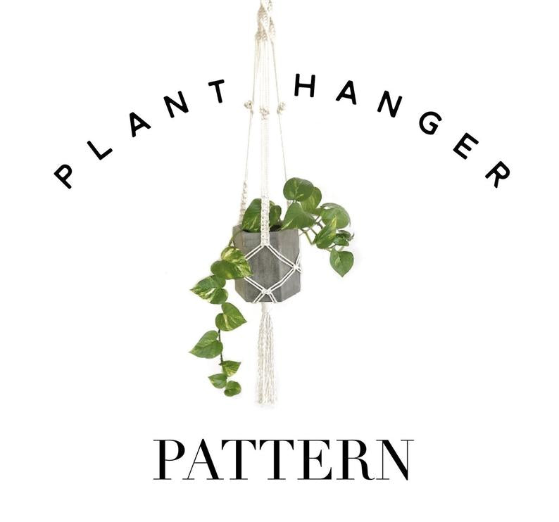MACRAME PATTERN PACKAGE- Beginner to Intermediate Wall Hanging and Plant Hanger Tutorials.