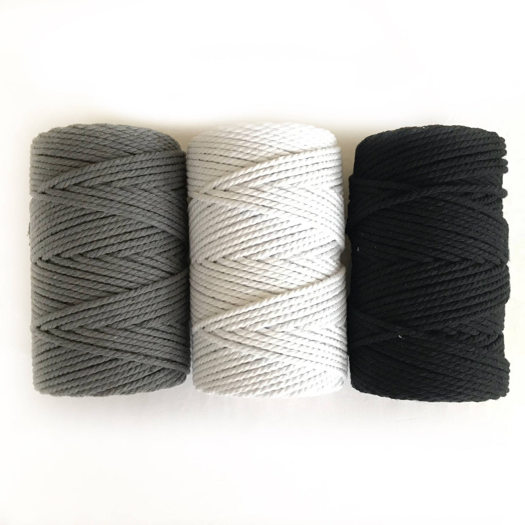 WHITE Macrame Cord 4mm 100m