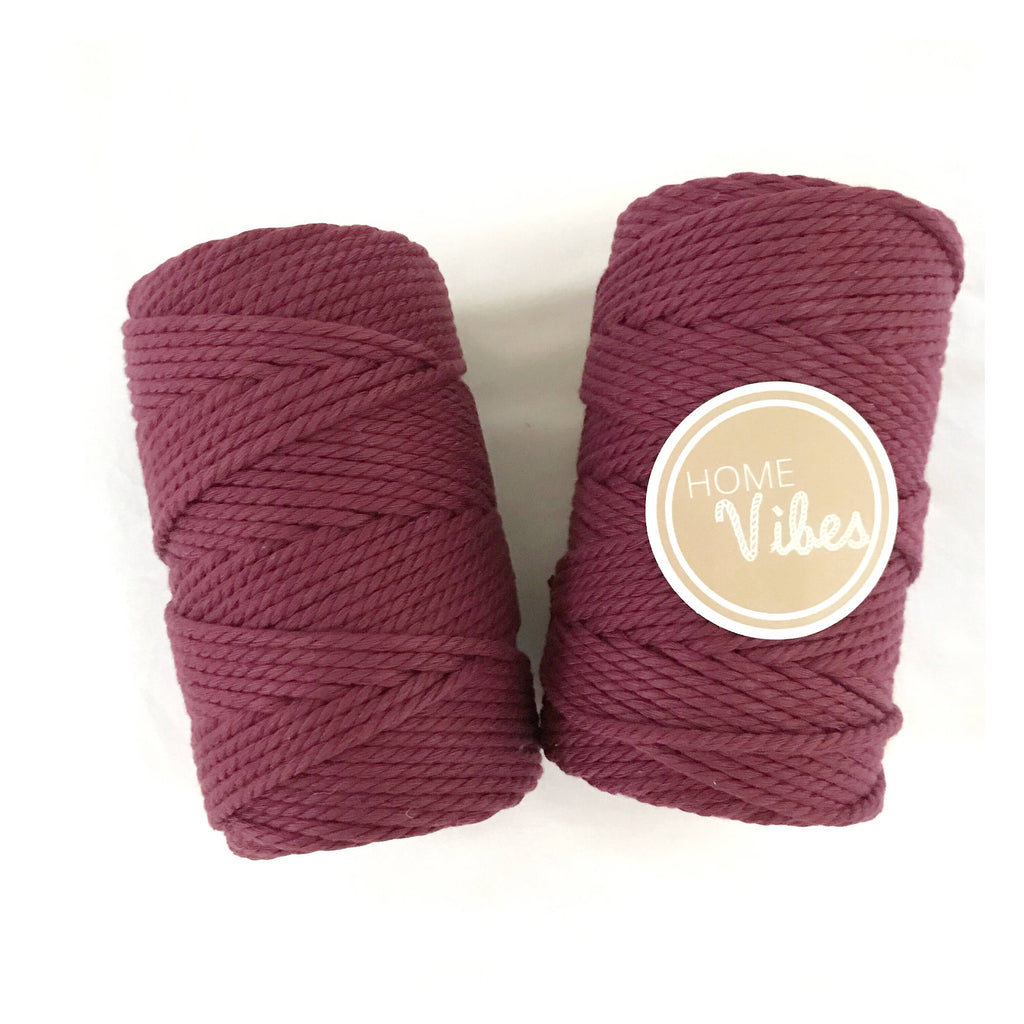 VINO ROUGE Coloured Macrame Cord 4mm 100m
