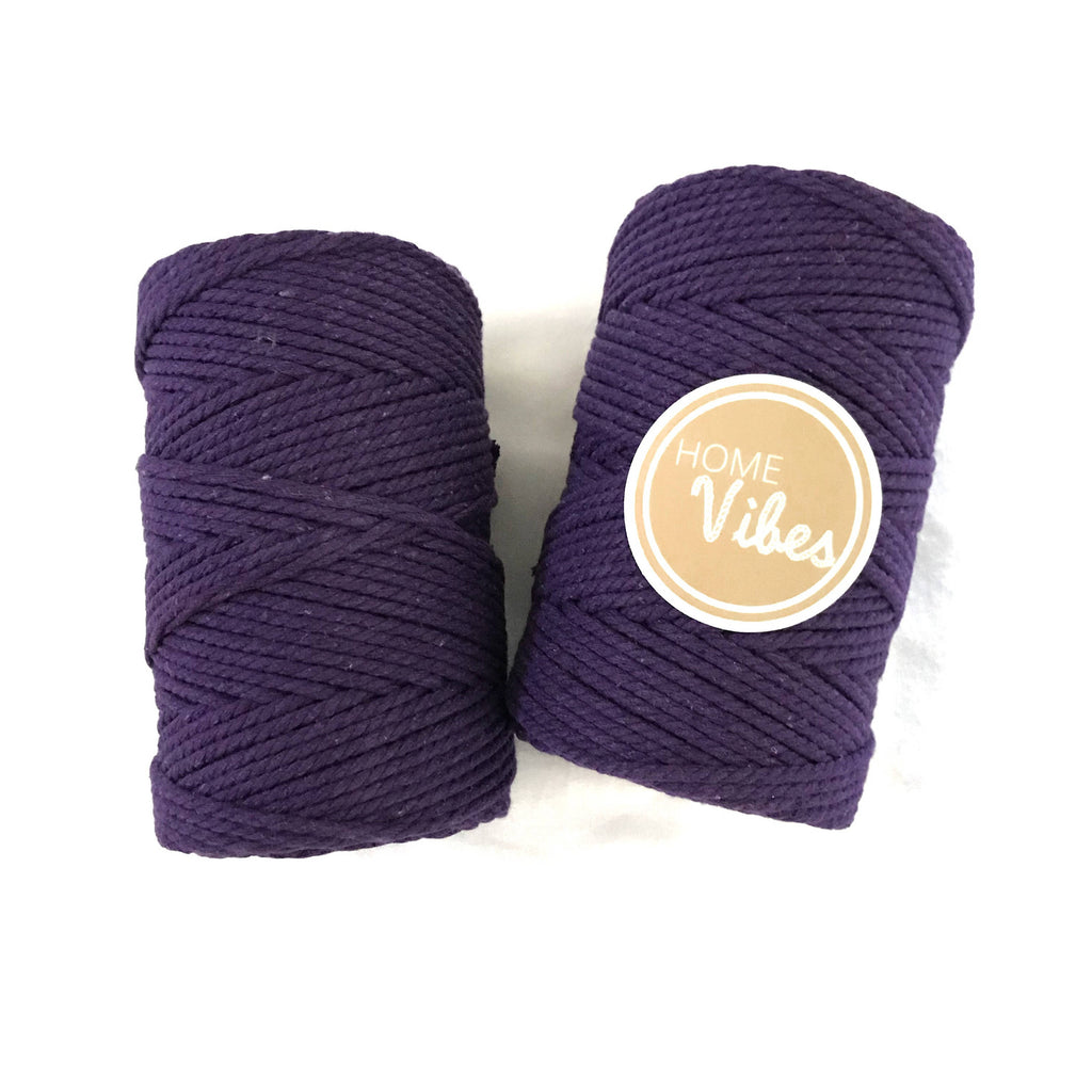 VIOLET Coloured Macrame Cord 4mm 100m