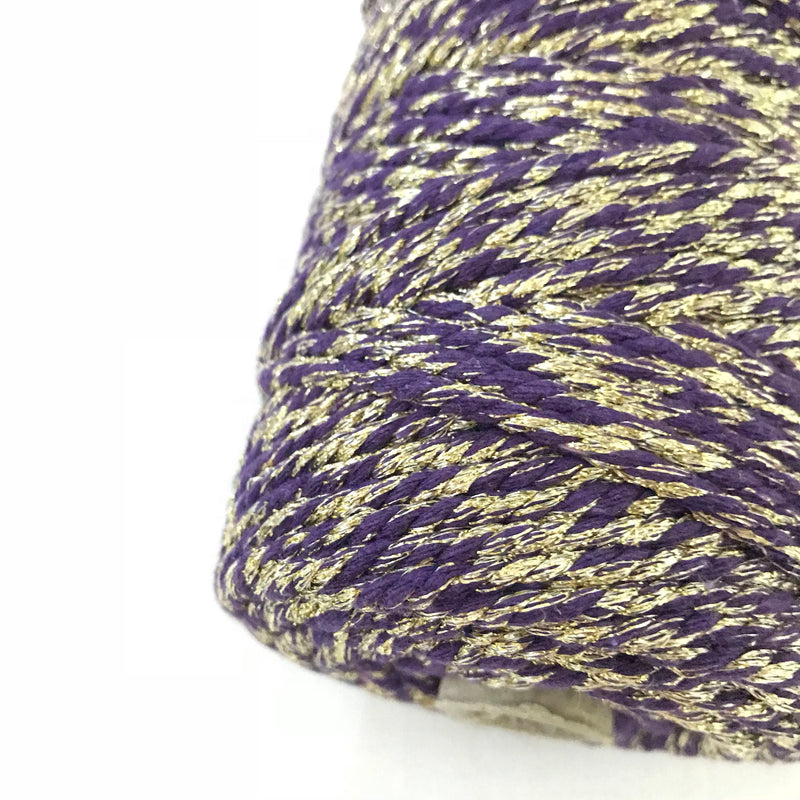 VIOLET LIGHT Metallic Macrame Cord 4mm 100m