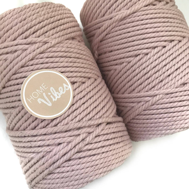 BLUSH Coloured Macrame Cord 4mm 100m