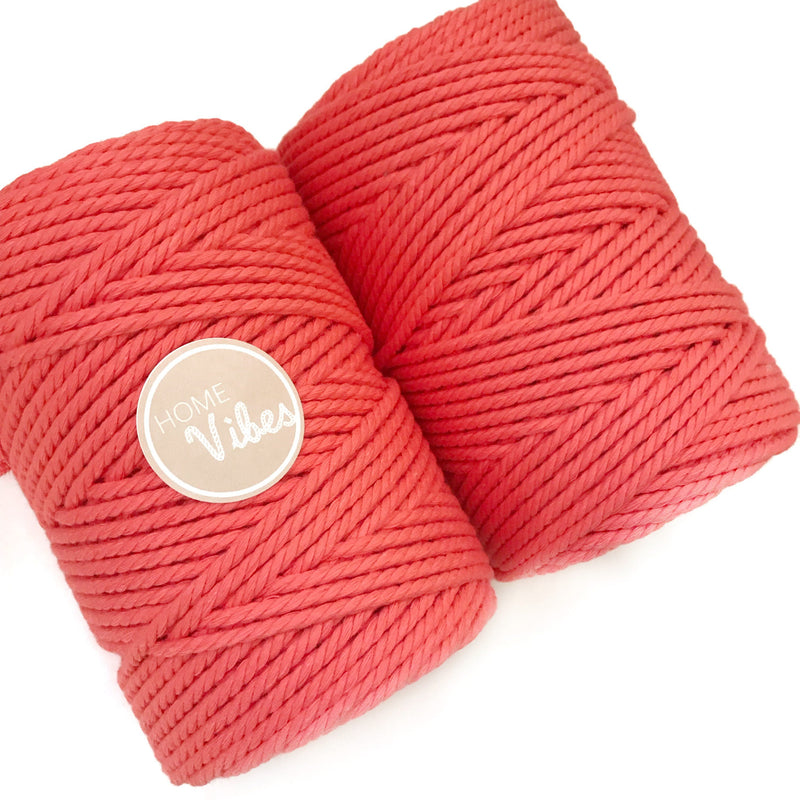 MELON Coloured Macrame Cord 4mm 100m