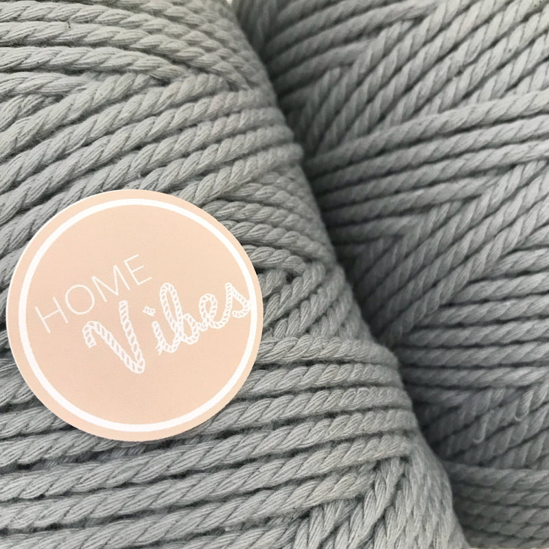 LIGHT GREY Coloured Macrame Cord 4mm 100m