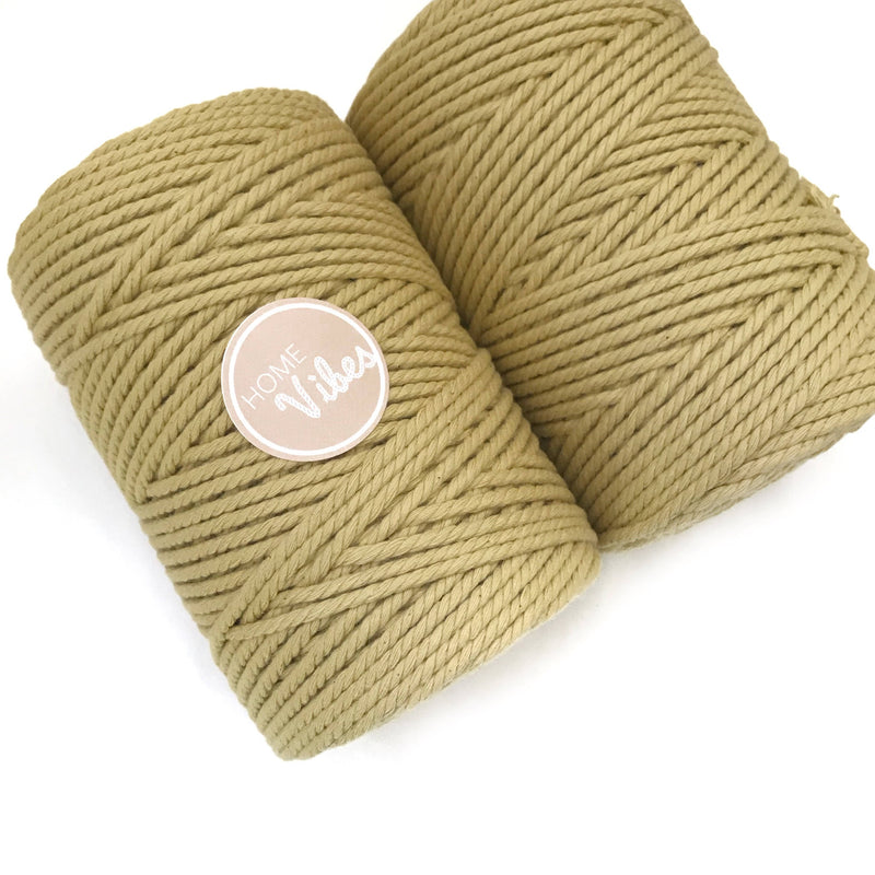LIGHT MUSTARD Coloured Macrame Cord 4mm 100m