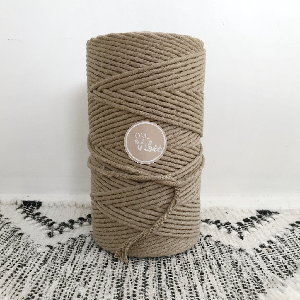 SEPIA Coloured Macrame Cord 4mm 1kg