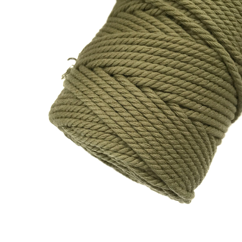 KHAKI Coloured Macrame Cord 4mm 100m