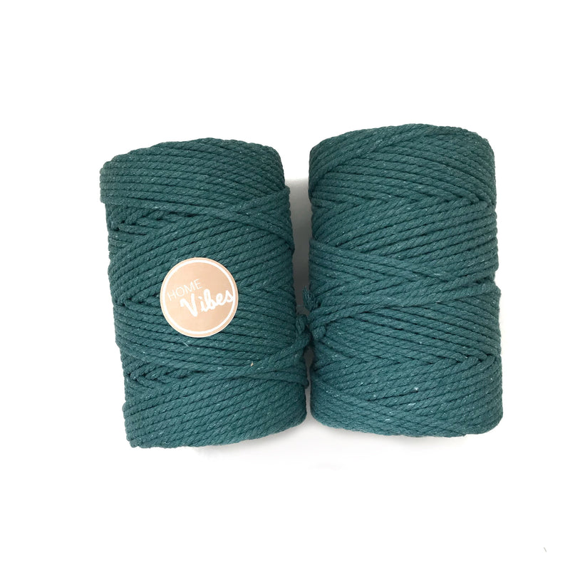 TEAL Coloured Macrame Cord 4mm 100m