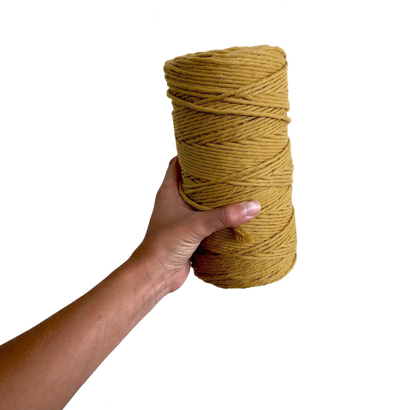 MUSTARD Coloured Macrame Cord 4mm 1kg