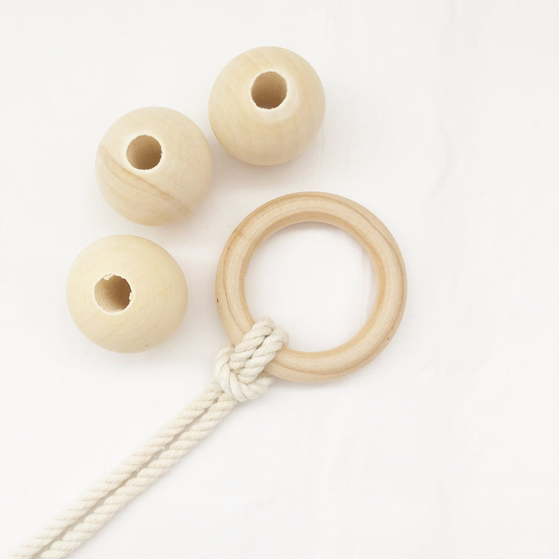 Wooden Beads - Pack of 6