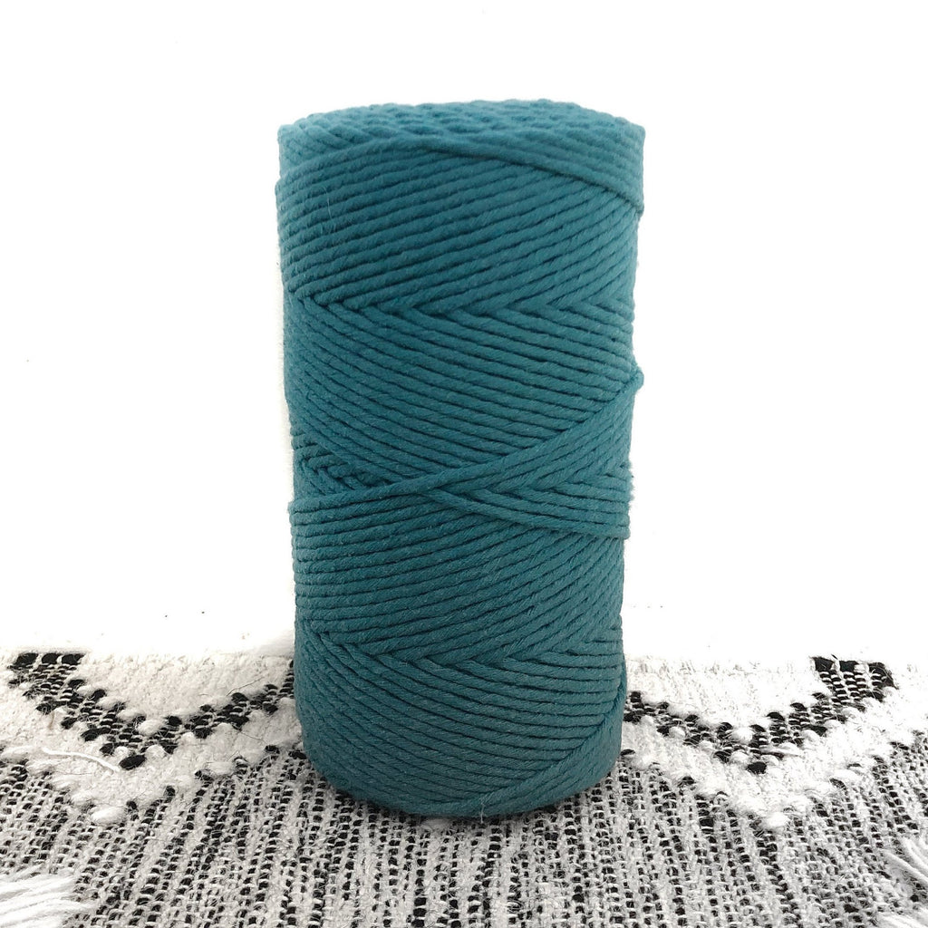 TEAL Coloured Macrame Cord 4mm 1kg