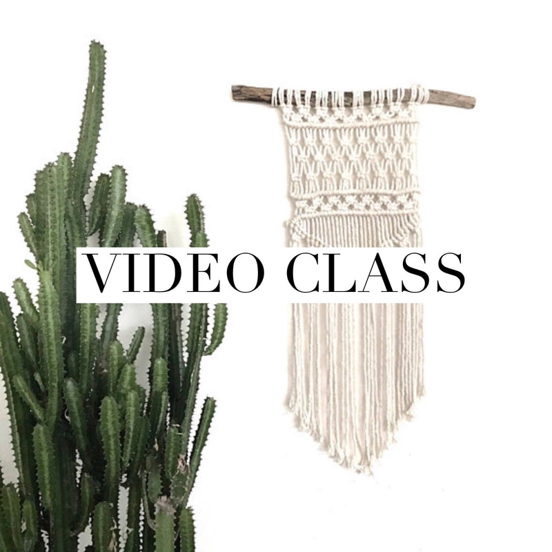 "Beginner Macrame Wall Hanging Class ""Nomad"" Pattern"