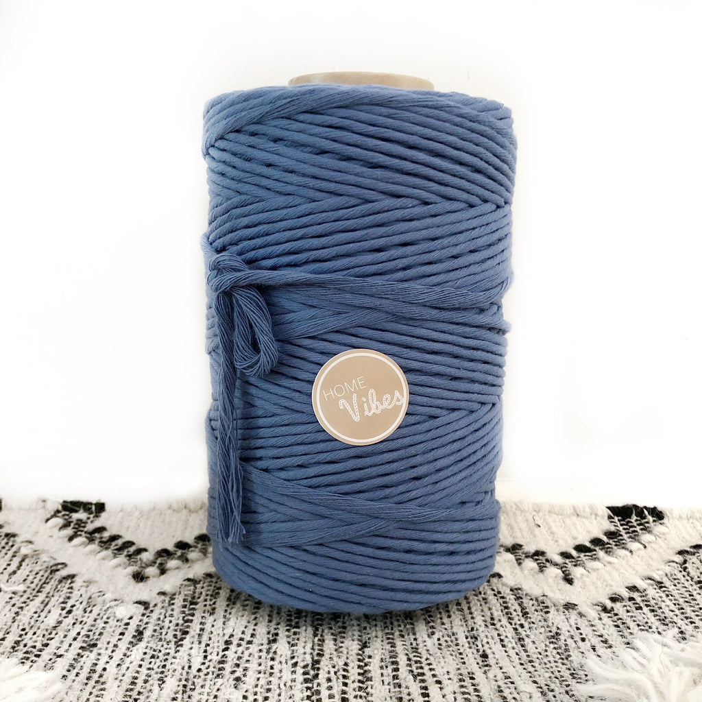 OCEAN BLUE Coloured Macrame Cord 4mm 1kg