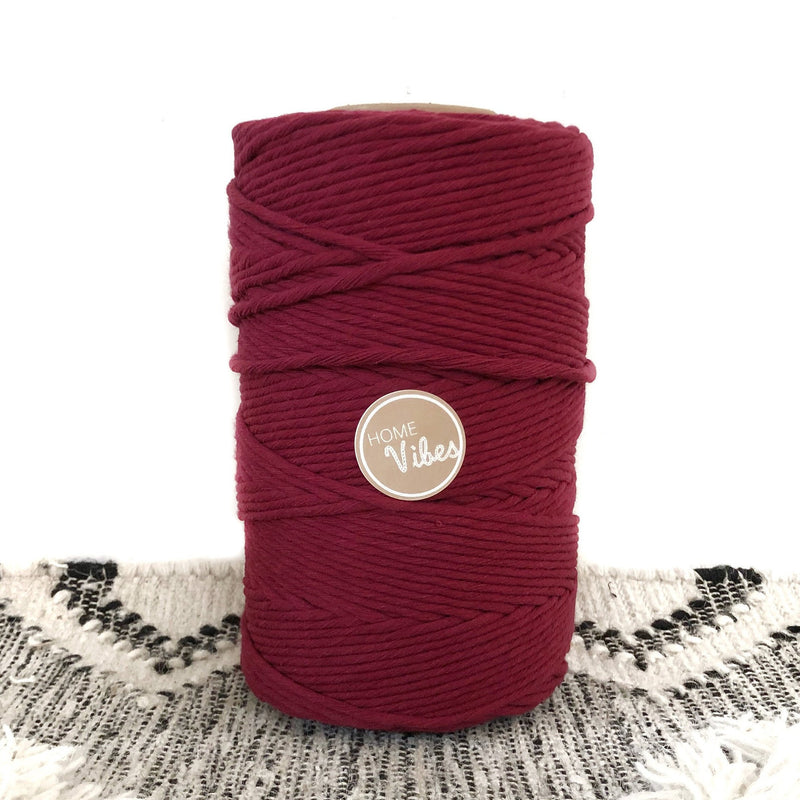 MAROON Coloured Macrame Cord 4mm 1kg