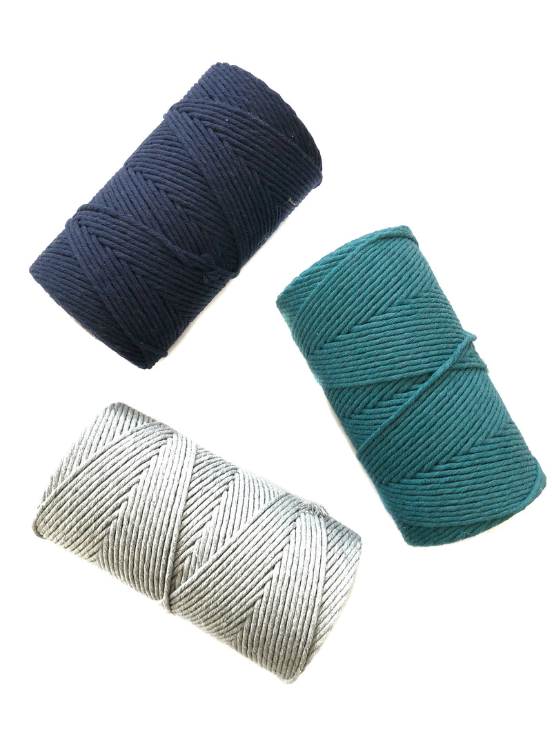 LIGHT GREY Coloured Macrame Cord 4mm 1kg