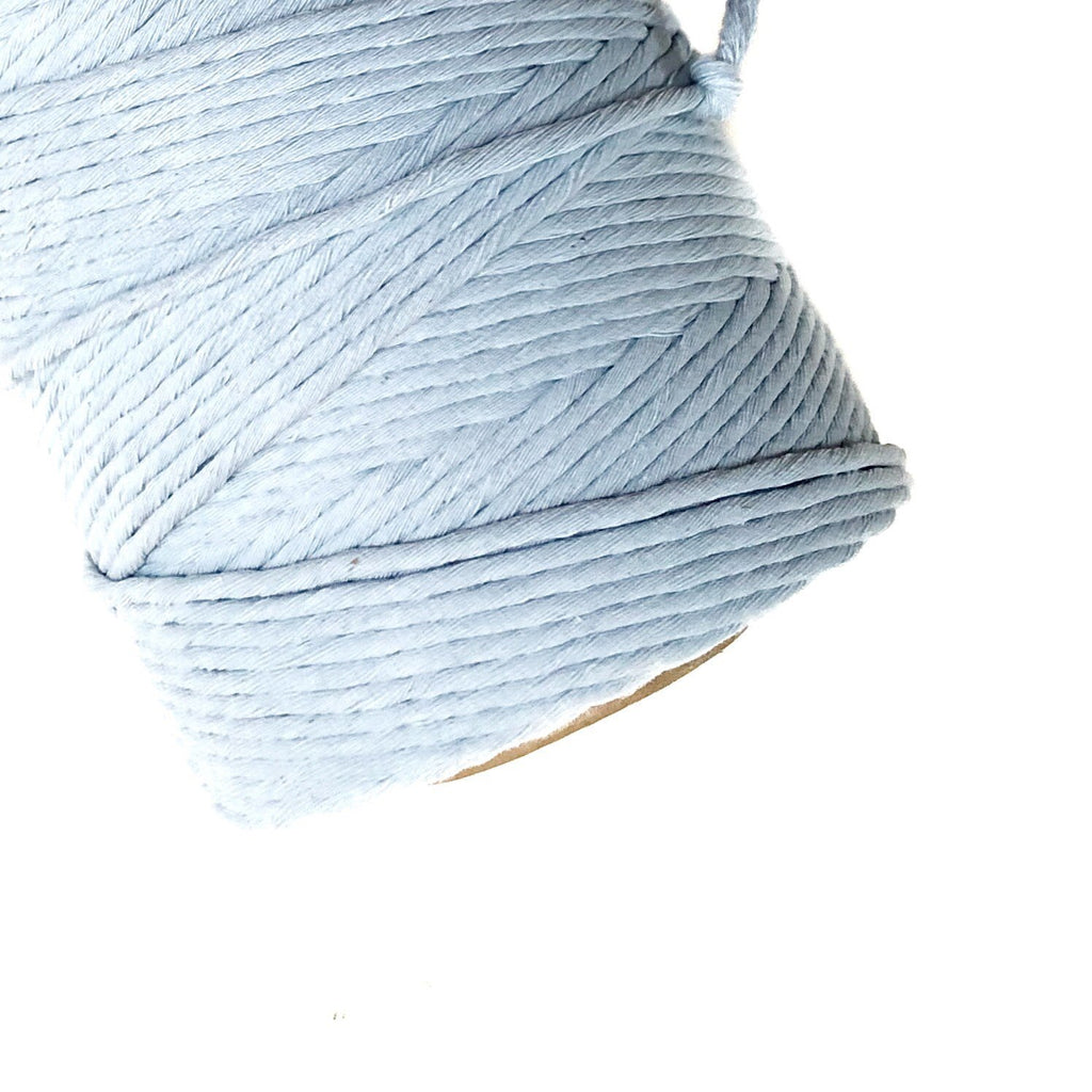 BABY BLUE Coloured Macrame Cord 4mm 1kg