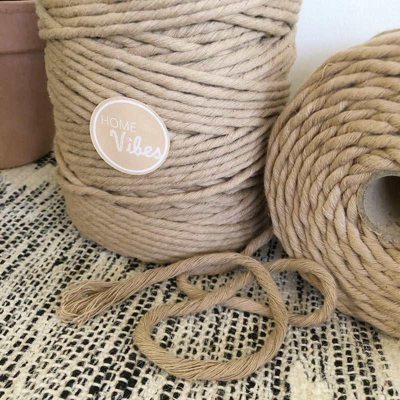SEPIA Coloured Macrame Cord 6mm 1kg