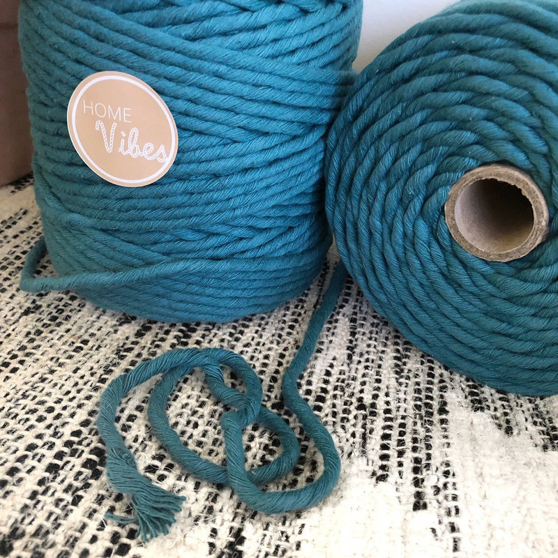TEAL Coloured Macrame Cord 6mm 1kg