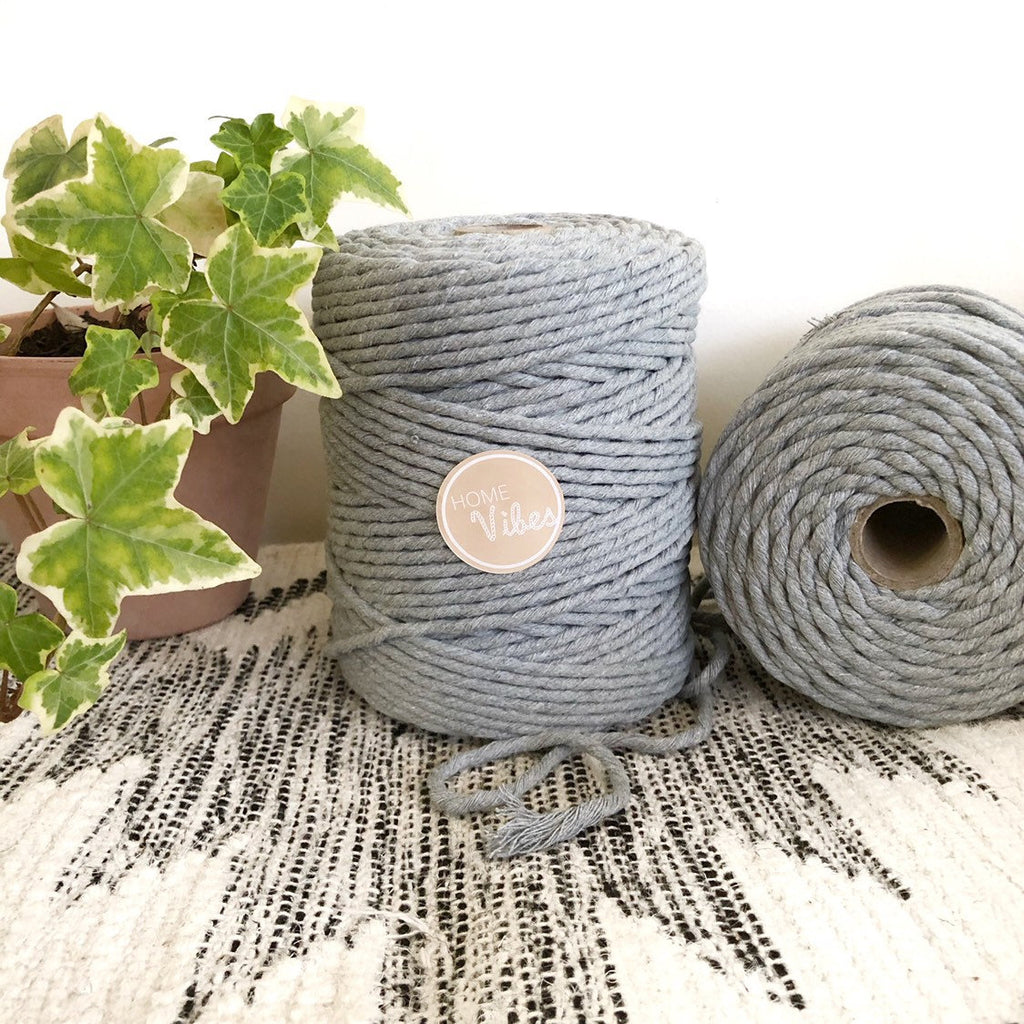 LIGHT GREY Coloured Macrame Cord 6mm 1kg