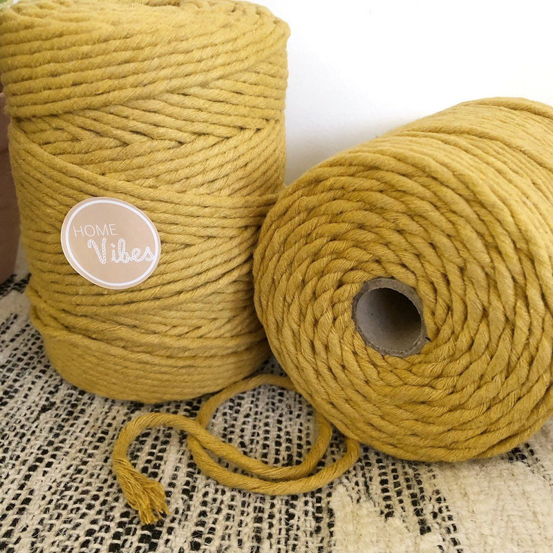 MUSTARD Coloured Macrame Cord 6mm 1kg