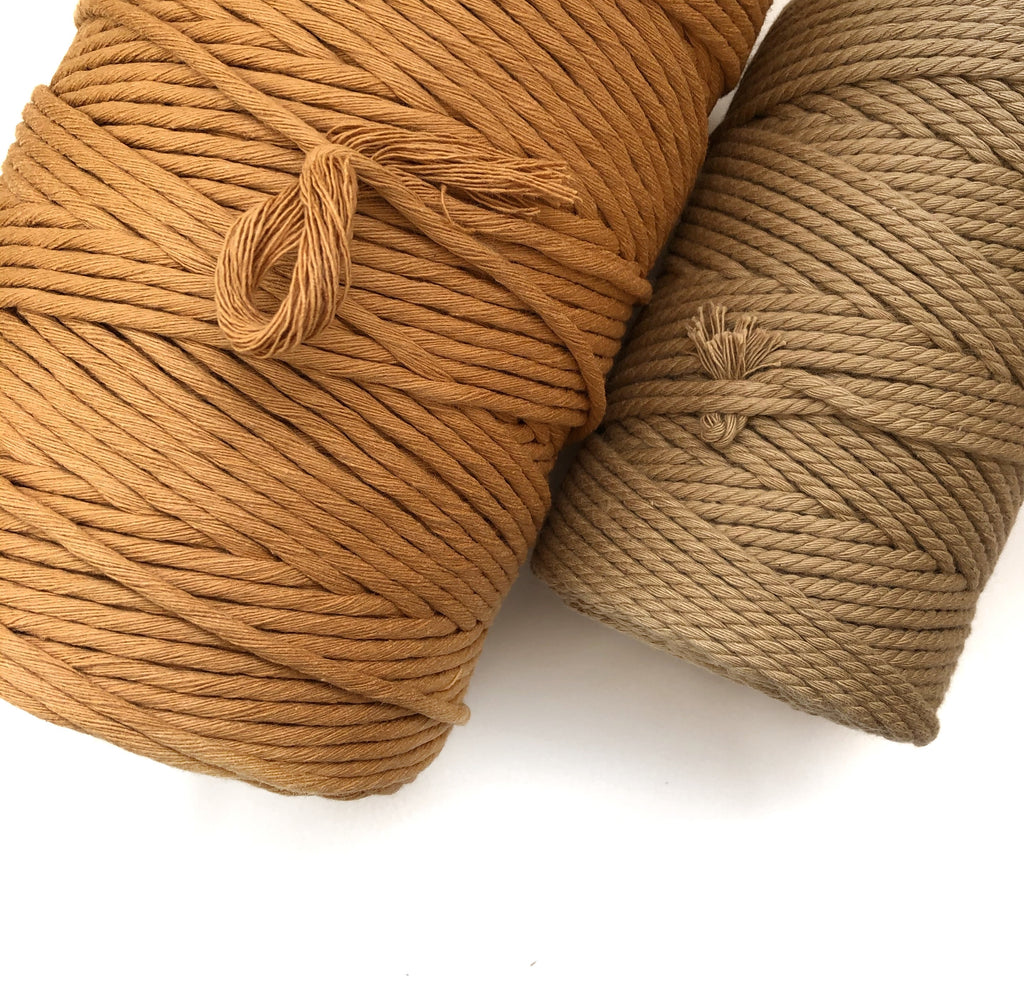 CARAMEL Coloured Macrame Cord 4mm 1kg