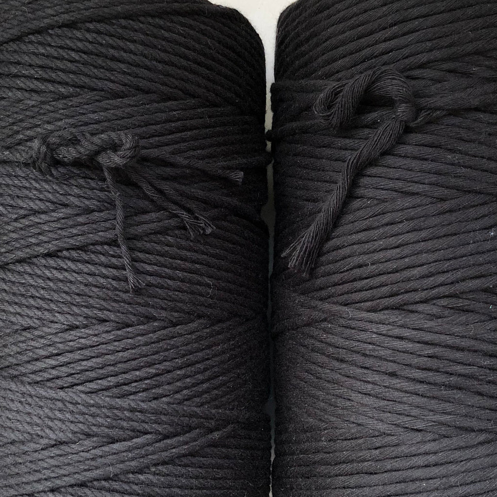 BLACK Coloured Macrame Cord 4mm 1kg