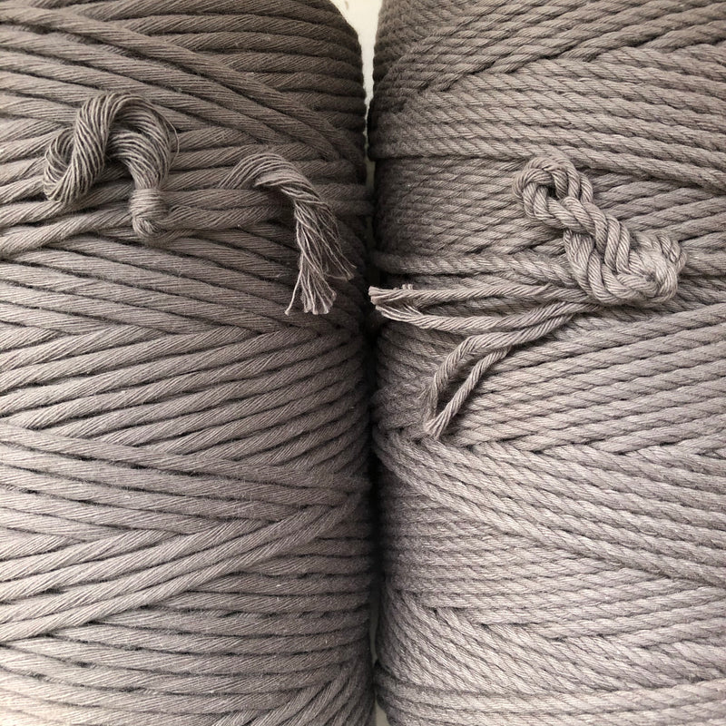 SLATE GREY Coloured Macrame Cord 4mm 1kg