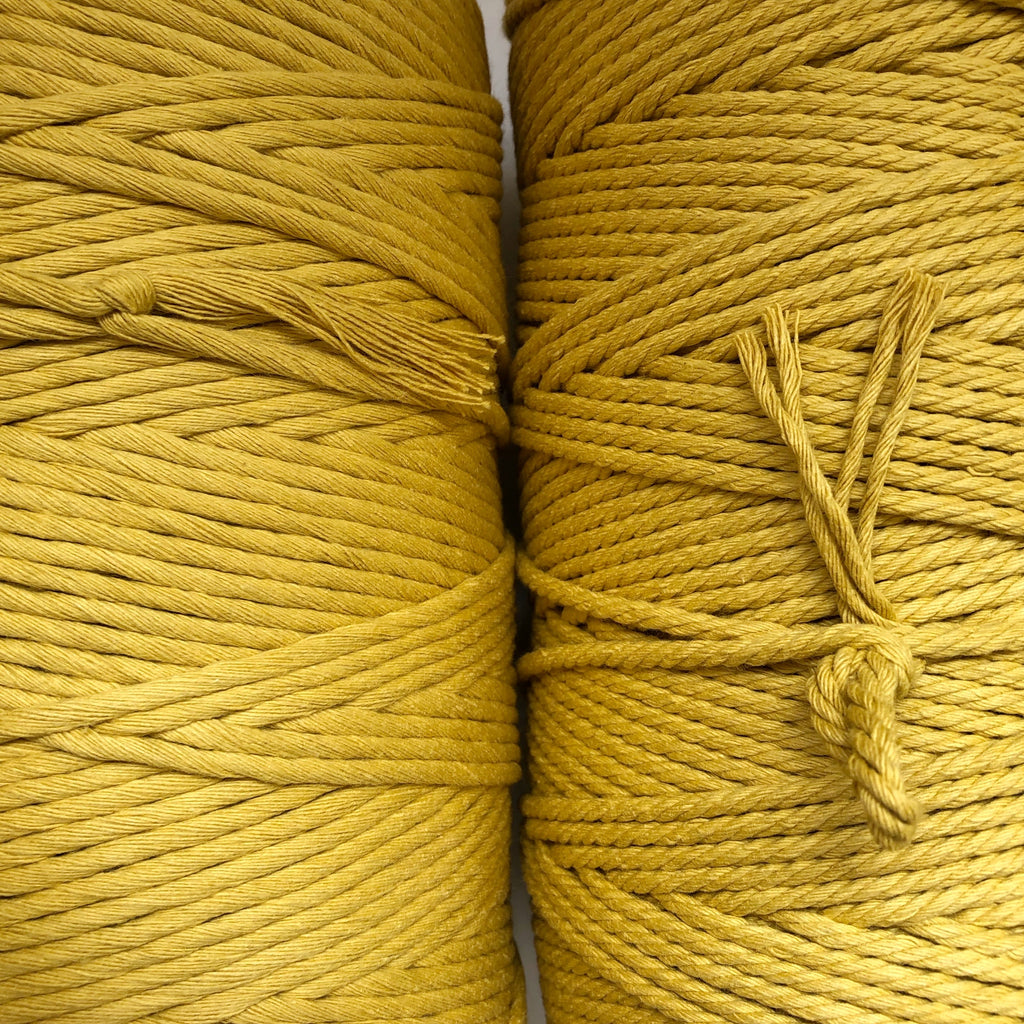 HONEY Coloured Macrame Cord 4mm 1kg