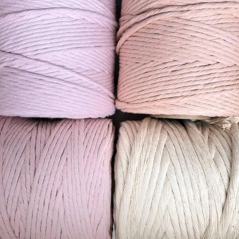 PEACHY PINK Coloured Macrame Cord 4mm 1kg