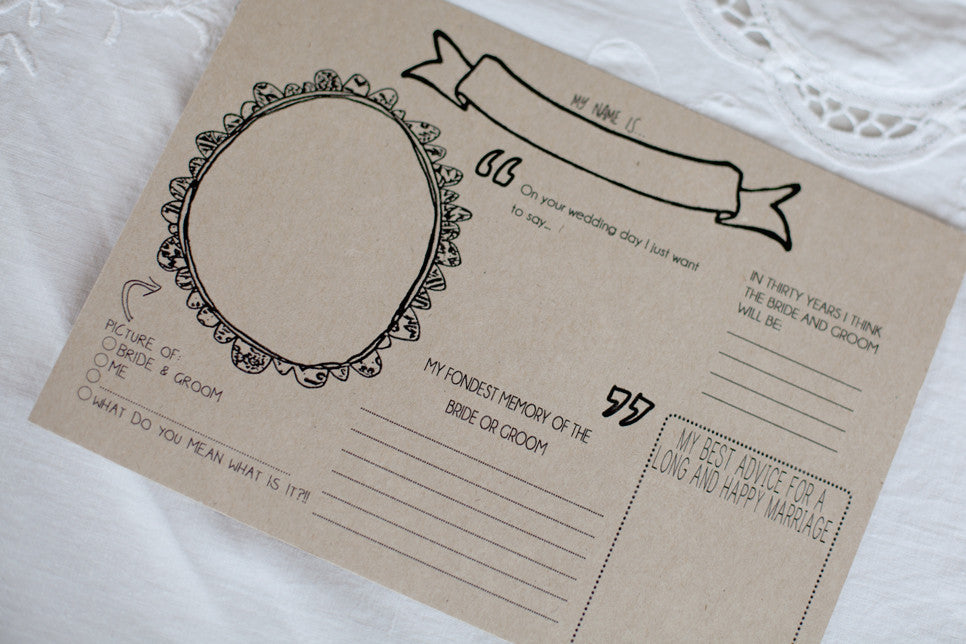 Wedding placemat printable- 'Fun' US letter size