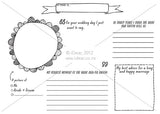 Wedding placemat printable- 'Fun' A4 size