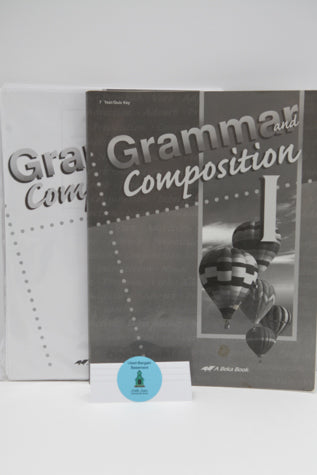 Grammar and Composition I Tests/Quizzes and Tests/Quizzes Key (4th Edition) - A Beka (Bargain Basement) - Little Green Schoolhouse Books