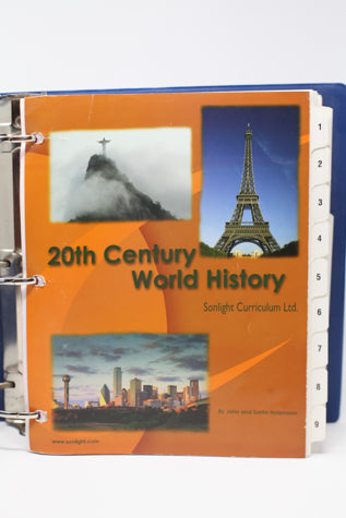 20th Century World History -Sonlight High School 300-01 (2006) (Bargain Basement) - Little Green Schoolhouse Books