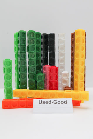 Interlocking Math Cube Manipulatives (set of 146) (Used) - Little Green Schoolhouse Books