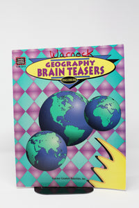 Geography Brain Teasers- Challenging (used-good) - Little Green Schoolhouse Books
