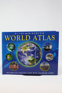 Slide and Discover: World Atlas (Used-worn/acceptable) - Little Green Schoolhouse Books