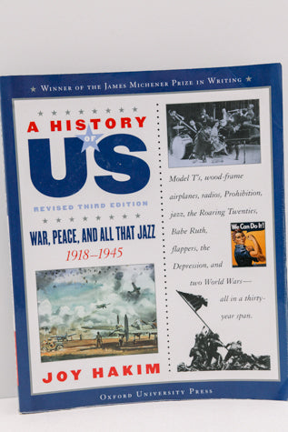 A History of US - Book 9 War, Peace, and all that Jazz 1918-1945 (Third revised edition)- (Used-Good) - Little Green Schoolhouse Books