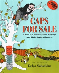 Caps For Sale by Esphyr Slobodkina (Used-Like New) - Little Green Schoolhouse Books