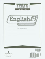 English 4 Tests and Answer Key(2nd Edition) (Used-Good) - Little Green Schoolhouse Books