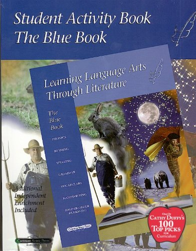 Blue Student Activity Book (Learning Language Arts Through Literature) 1998- Bargain Basement (Used) - Little Green Schoolhouse Books