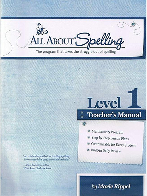 All About Spelling Level 1 Teacher's Manual (Used-Like New) - Little Green Schoolhouse Books