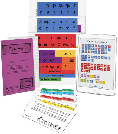 All About Spelling - Basic Spelling Interactive Kit (Used-Like New) - Little Green Schoolhouse Books