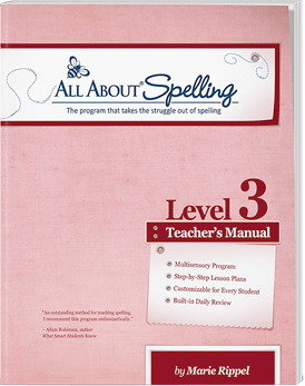 All About Spelling Level 3 Teacher's Manual (Used-Like New) - Little Green Schoolhouse Books