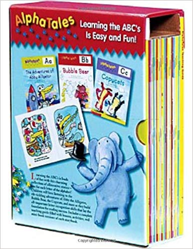 AlphaTales Box Set: A Set of 26 Irresistible Animal Storybooks That Build Phonemic Awareness & Teach Each letter of the Alphabet and Bonus Audio CD (Used-good) - Little Green Schoolhouse Books