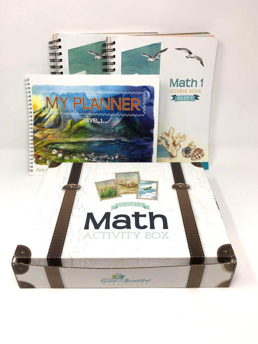 Math Course Set-Level 1- Parts 1&2- The Good and the Beautiful (Used-Like New) - Little Green Schoolhouse Books