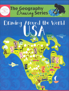 Drawing Around the World USA (Used-Like New) - Little Green Schoolhouse Books