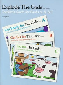 Explode the Code-Teacher's Guide books A,B, &C (used-good) - Little Green Schoolhouse Books