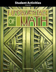 Fundamentals of Math Student Activities Answer Key(2nd Edition)- BJU Press (Used) - Little Green Schoolhouse Books